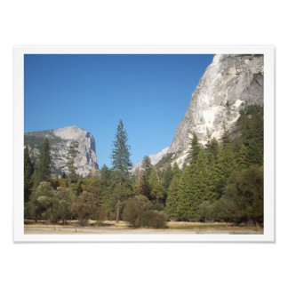 """Trees Amidst Mountains"" Yosemite Valley Poster"