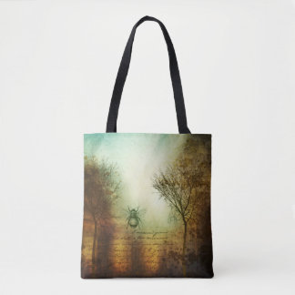 Trees And Bee Tote Bag