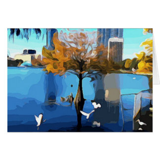 Trees and Birds Lake Eola Card