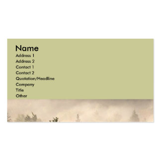 Trees and Fog Double-Sided Standard Business Cards (Pack Of 100)