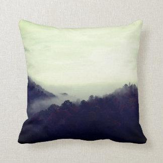 Trees And Fog Recoleta Throw Pillow