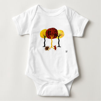 Trees and friends baby bodysuit