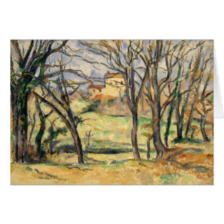 Trees and Houses Near the Jas de Bouffan Card