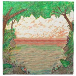 Trees and Ocean Napkin