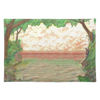 Trees and Ocean Placemat
