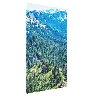 Trees and  Ridges Canvas Print