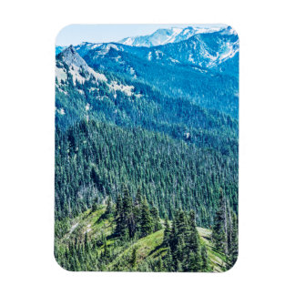 Trees and  Ridges Rectangular Photo Magnet