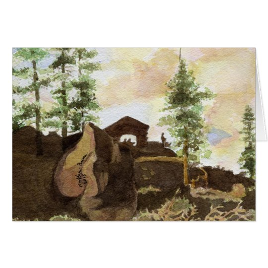 Trees and Rocks, Yosemite National Park Card