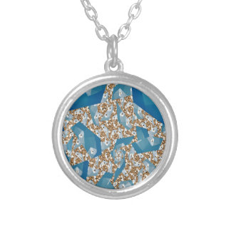 TREES AND SKY SILVER PLATED NECKLACE