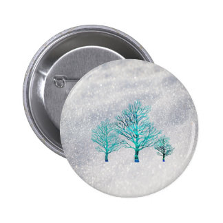 Trees and Snow Crystals 2 Inch Round Button