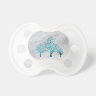 Trees and Snow Crystals Pacifiers