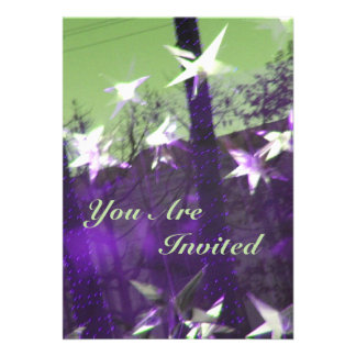 "Trees and Stars Abstract 5"" X 7"" Invitation Card"