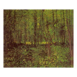 Trees and Undergrowth by van Gogh, Vintage Art Poster