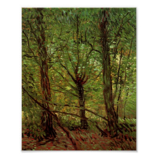 Trees and Undergrowth Van Gogh Fine Art Poster