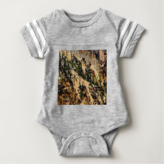 trees and yellow slope baby bodysuit