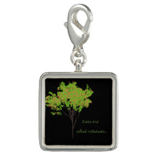 """""""trees are silent witnesses"""" Tree Art Quote charm"""