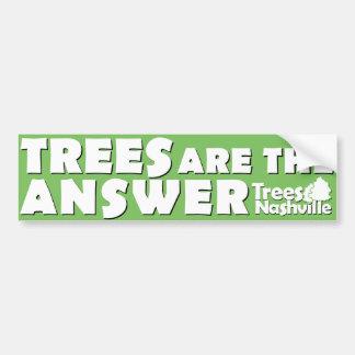 Trees Are The Answer Bumper Sticker