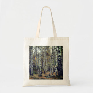 Trees Birch Forrest Autumn Photo Budget Tote