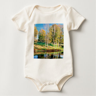 Trees Birch Vermont Baby Bodysuit