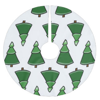 Trees Brushed Polyester Tree Skirt