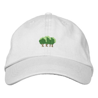 Trees Embroidered Hat