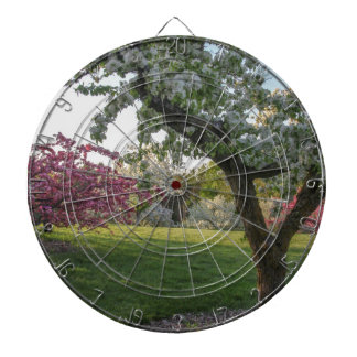 Trees Flower in the Spring Dartboard