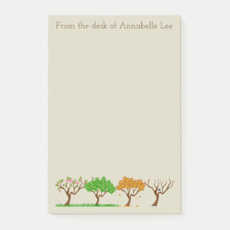 Trees for all Seasons Post-it Notes