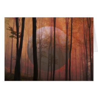 Trees Forest Planet Surreal Landscape Art Card