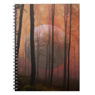 Trees Forest Planet Surreal Landscape Art Note Books