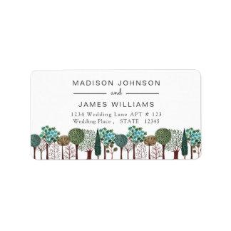 Trees Forest Woodland | Wedding | Address Labels