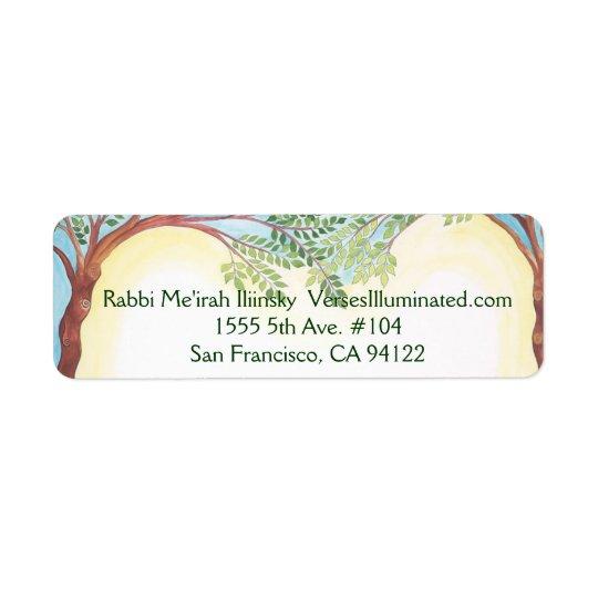 Trees growing together, Rabbi Me'irah Iliinsky ... Return Address Label