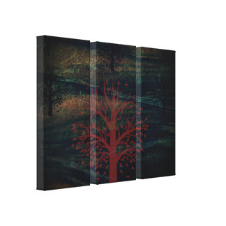 Trees & Hills Canvas Print - Option 1