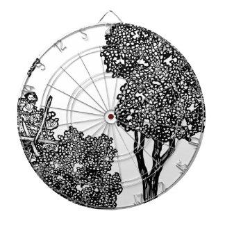 Trees Illustration Dartboard