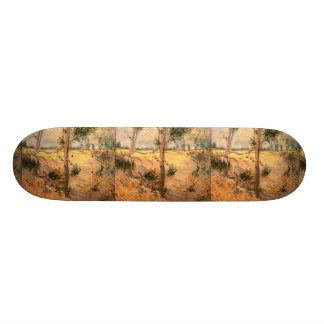 Trees in a Field on a Sunny Day Skateboard Decks