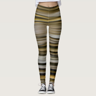 Trees in a forest blurred vertically pattern leggings