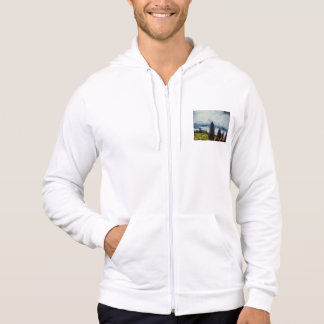 Trees in a landscape hoodie
