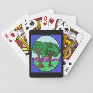 Trees In A Peaceful Meadow Playing Cards