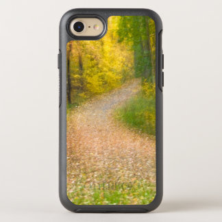 Trees in Autumn Colors and Leaf-Covered Pathway OtterBox Symmetry iPhone 8/7 Case