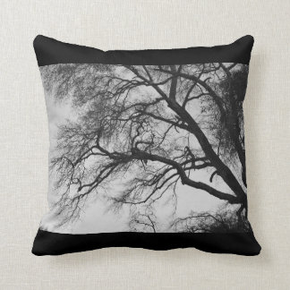 Trees in Black and White Throw Pillow