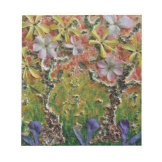 Trees in bloom notepad