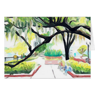 Trees in Lake Eola Card