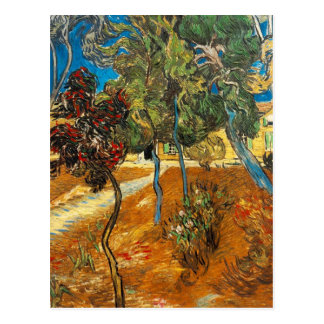 Trees in the Asylum Garden by Vincent van Gogh Postcard