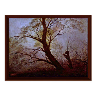 Trees In The Moonlight By Friedrich Caspar David Postcard