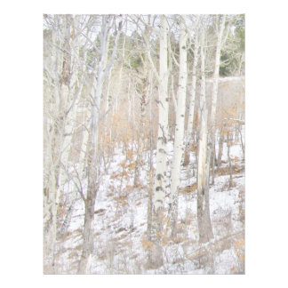 Trees in the Snow Stationary Letterhead
