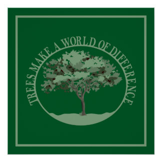 Trees Make a World of Difference Poster