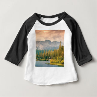 trees mountain and stream baby T-Shirt