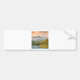 trees mountain and stream bumper sticker