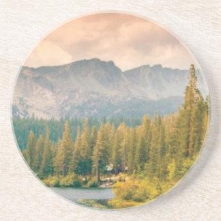 trees mountain and stream coaster
