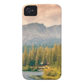 trees mountain and stream iPhone 4 case