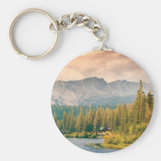 trees mountain and stream keychain
